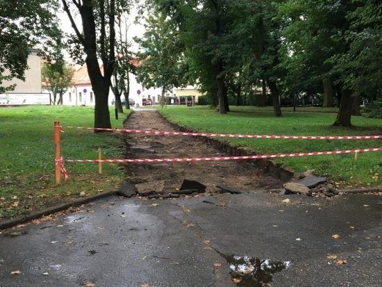 Ruszyła rewitalizacja parku przy ul. Dąbrowskiego [FOTO] - Aktualności Rzeszów - zdj. 1